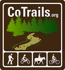 The logo for CoTrails show a path going into the forest.