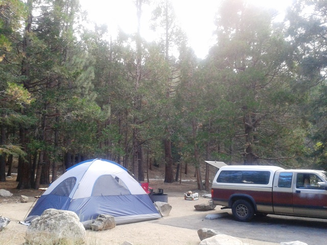 This campground is located alongside the South Fork Santa Ana River.