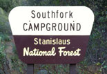 South Fork Campground Sign
