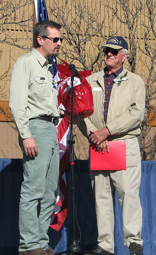 photo of Forest Service District Ranger and GJ MAyor