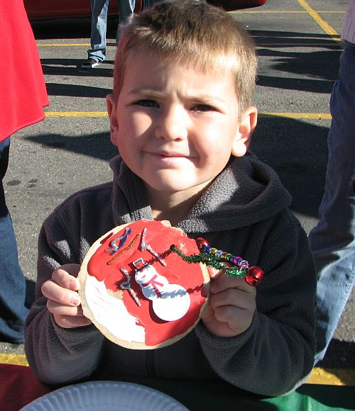 photo of boy with ornament