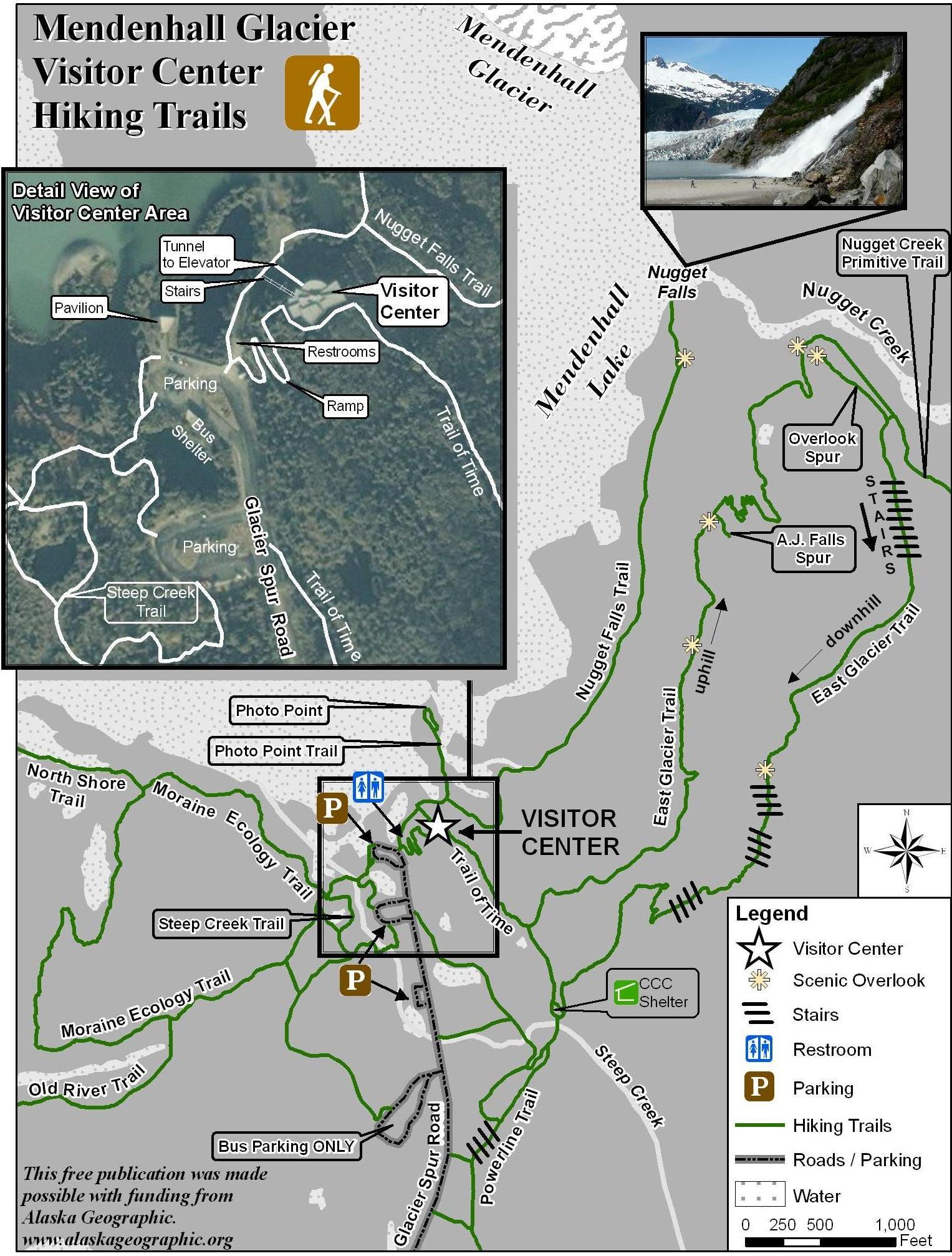 Mendenhall Glacier Trail Map