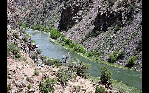 Image of GHunnison River through the gorge