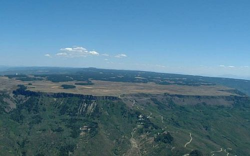 Image of Grand Mesa from aerial view