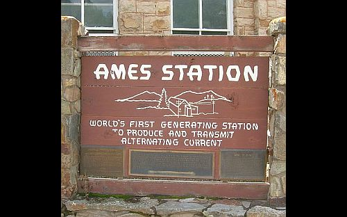 Image of sign for ames power plant