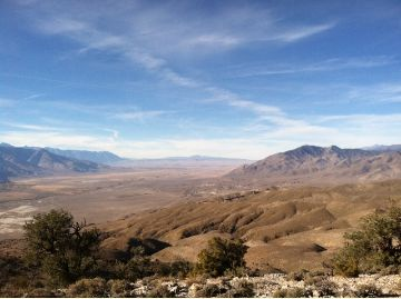 View of Owens Valley from the Inyo Mountains