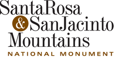 This is the logo for the Santa Rosa and San Jacinto Mountains National Monument