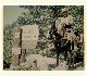 This photo shows a man named Lester Brink on horseback on the Vivian Creek Trail.