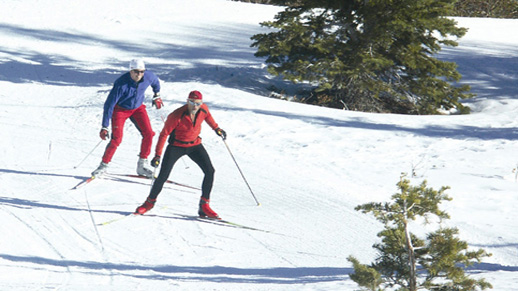 Cross-Country skiers enjoy a beautiful sunny day at Royal Gorge Cross-Country Ski Resort. Photo Credit: David Madison, Royal Gorge Cross-Country Ski Resort.