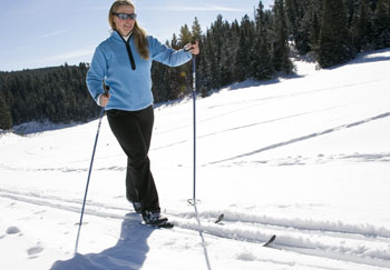 XC (Cross-Country) skier on the Black Hills National Forest, located in western South Dakota along the Wyoming border. Click on the photo to view the Winter Recreation Opportunities webpage.