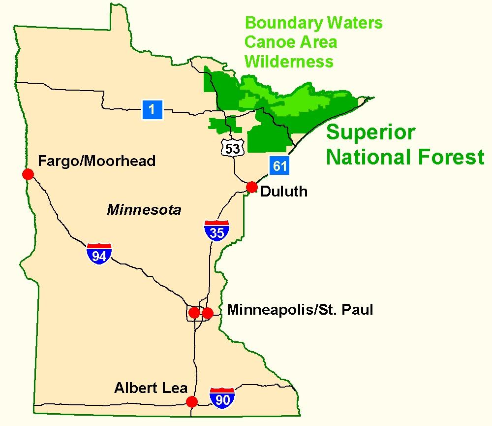 Superior National Forest Maps Publications - State of minnesota map