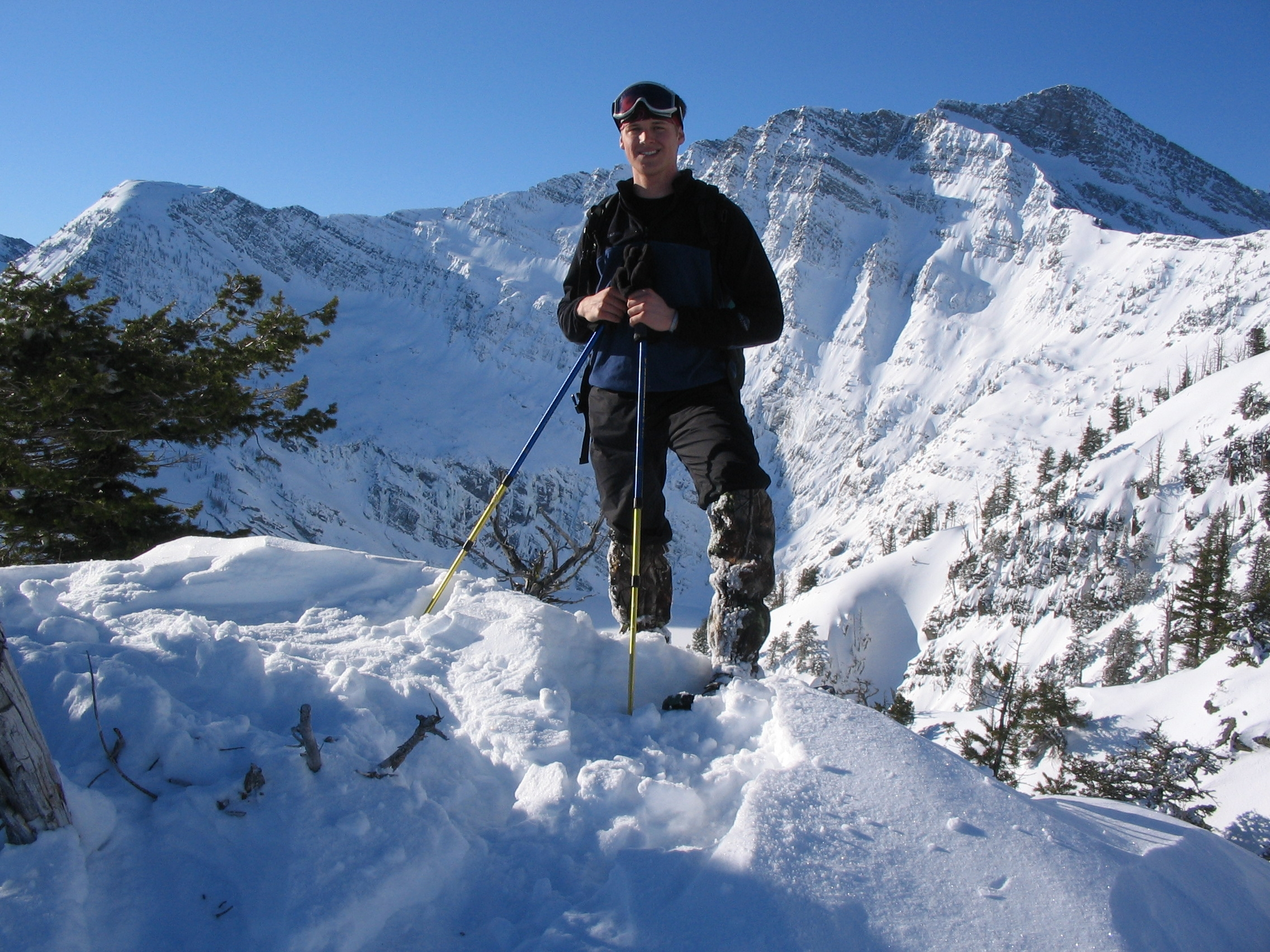 Pete Mason enjoying a sunny day in the Cabinet Mountain Wilderness