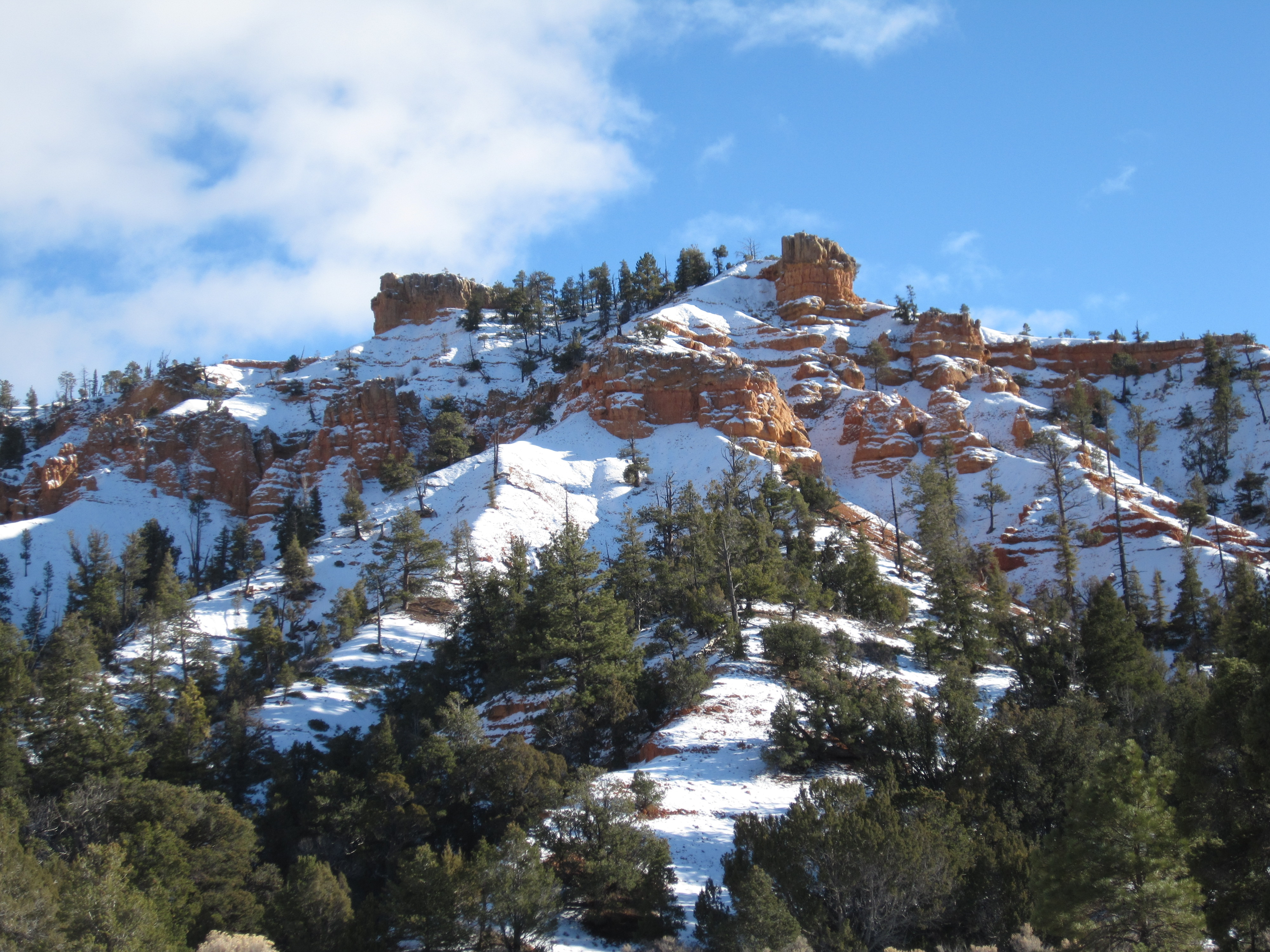 Red Canyon with Snow