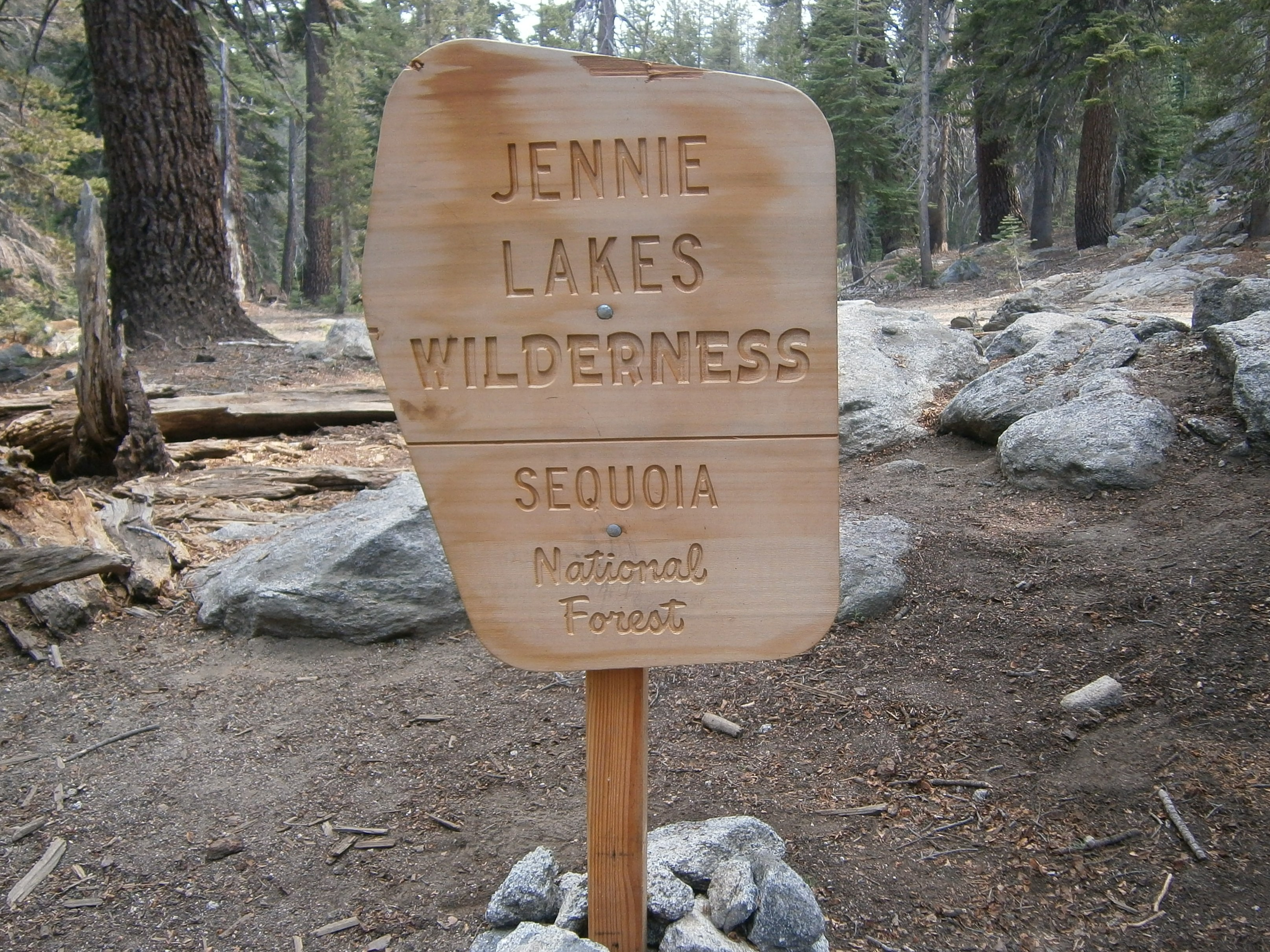 Jennie Lake Wilderness sign