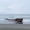 Boat beached on Yakutat beach