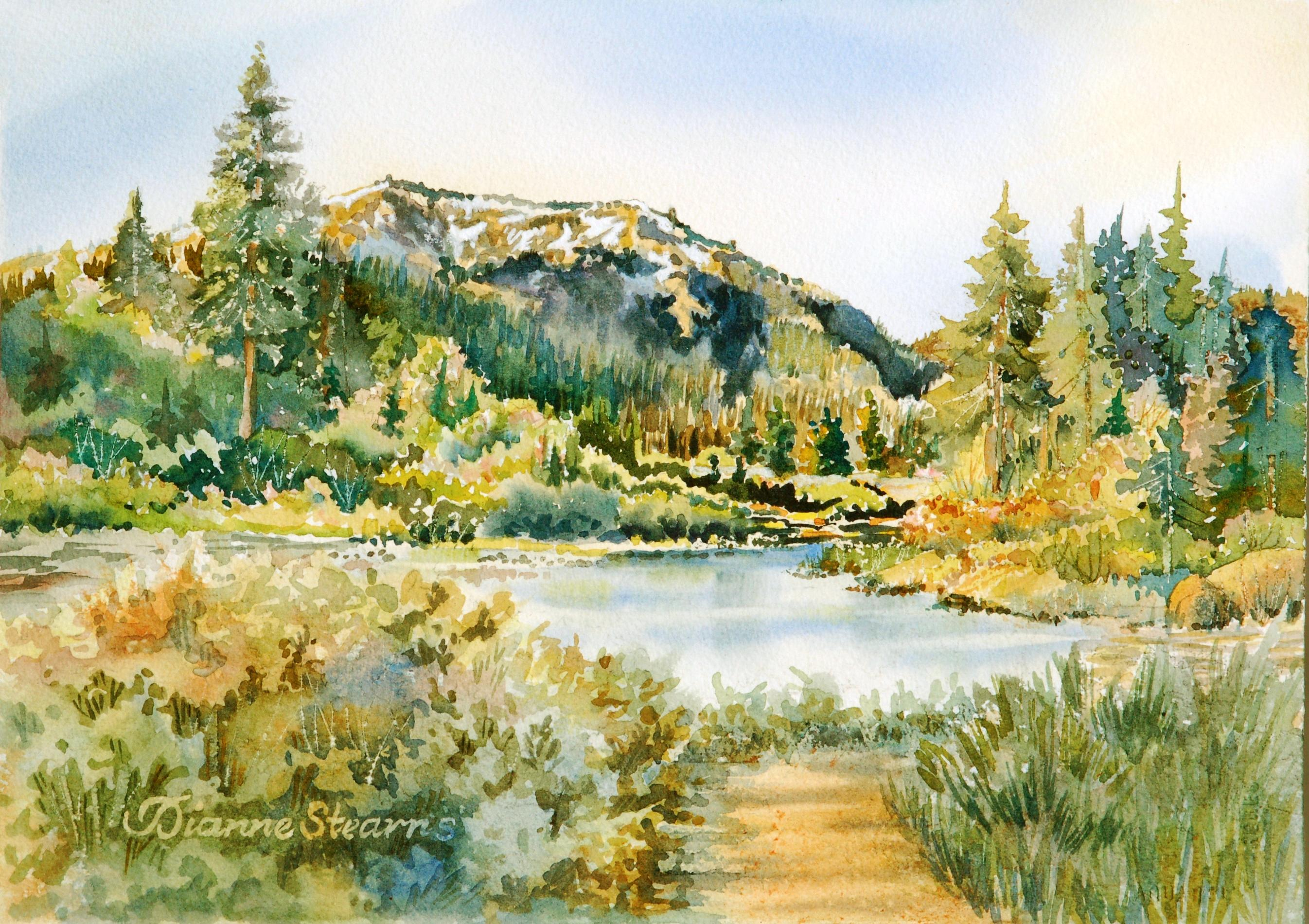 Donated copy of Watercolor painted by Stearns during