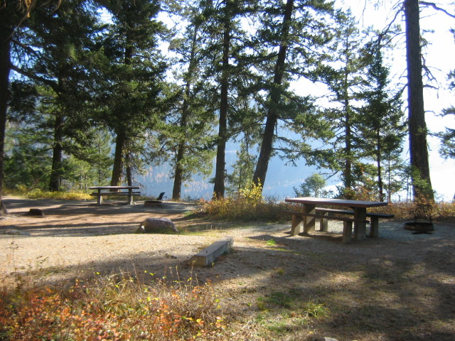 Campsite at the Tally Lake Campground