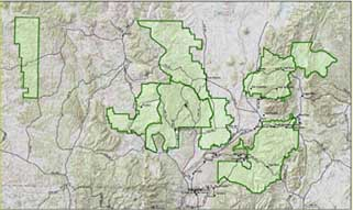 Map of Carson National Forest