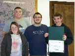 Bedford North Lawrence Special Kids receive a Volunteer Award in 2012.