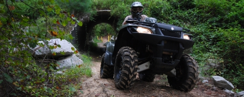 OHV rider on Enoree Trail