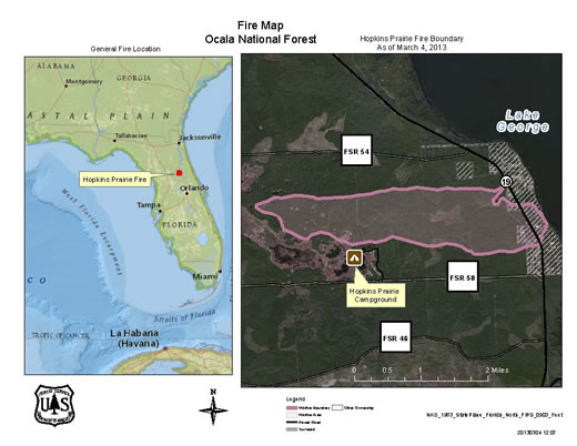 Florida Forest Fire Map.Ocala National Forest News Events