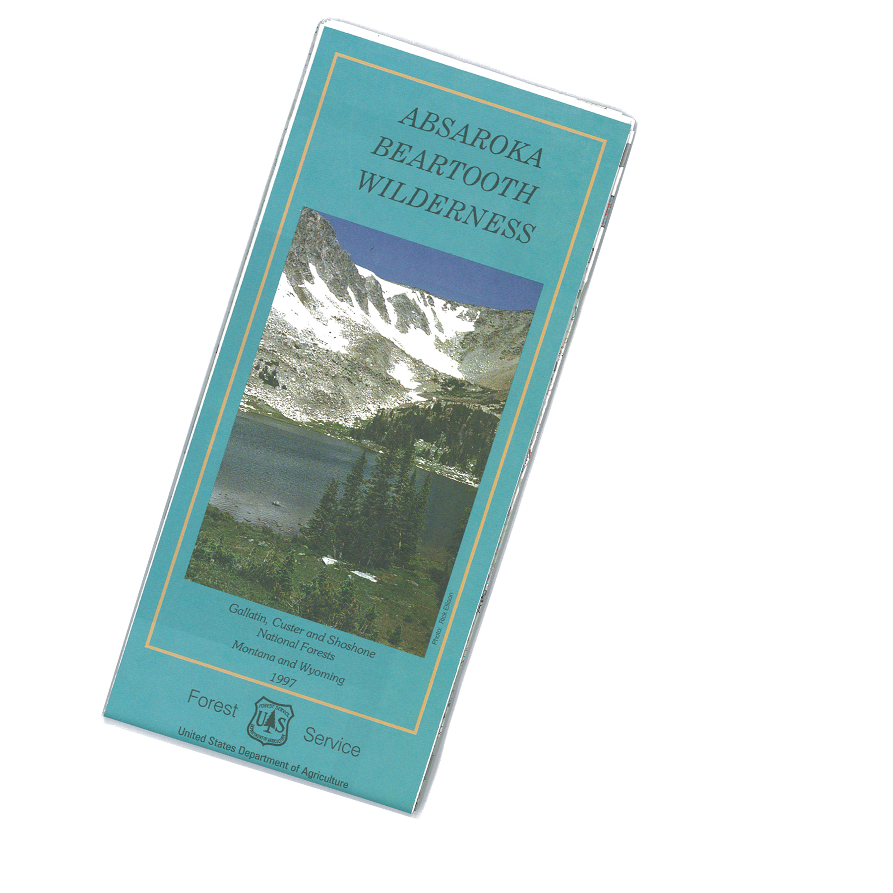 Absaroka Beartooth Wilderness Map Cover