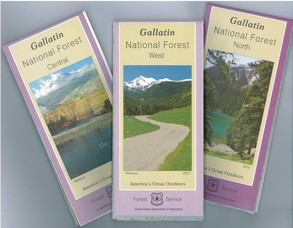 Gallatin National Forest Map Covers (3)