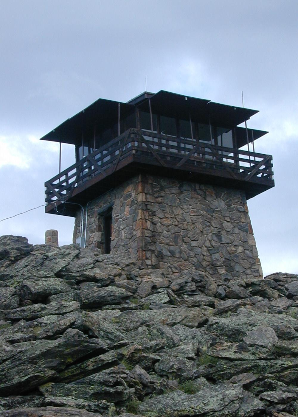 Fire lookout building.
