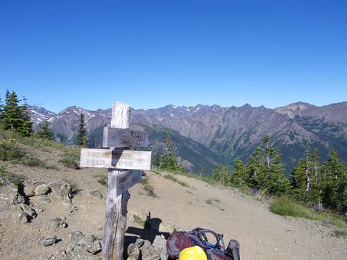 Marmot Pass, looking into the Dungeness valley.