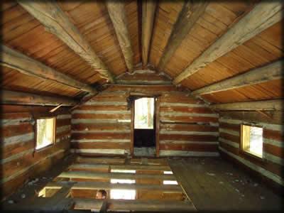 Harlow Cabin   Inside Roof Line