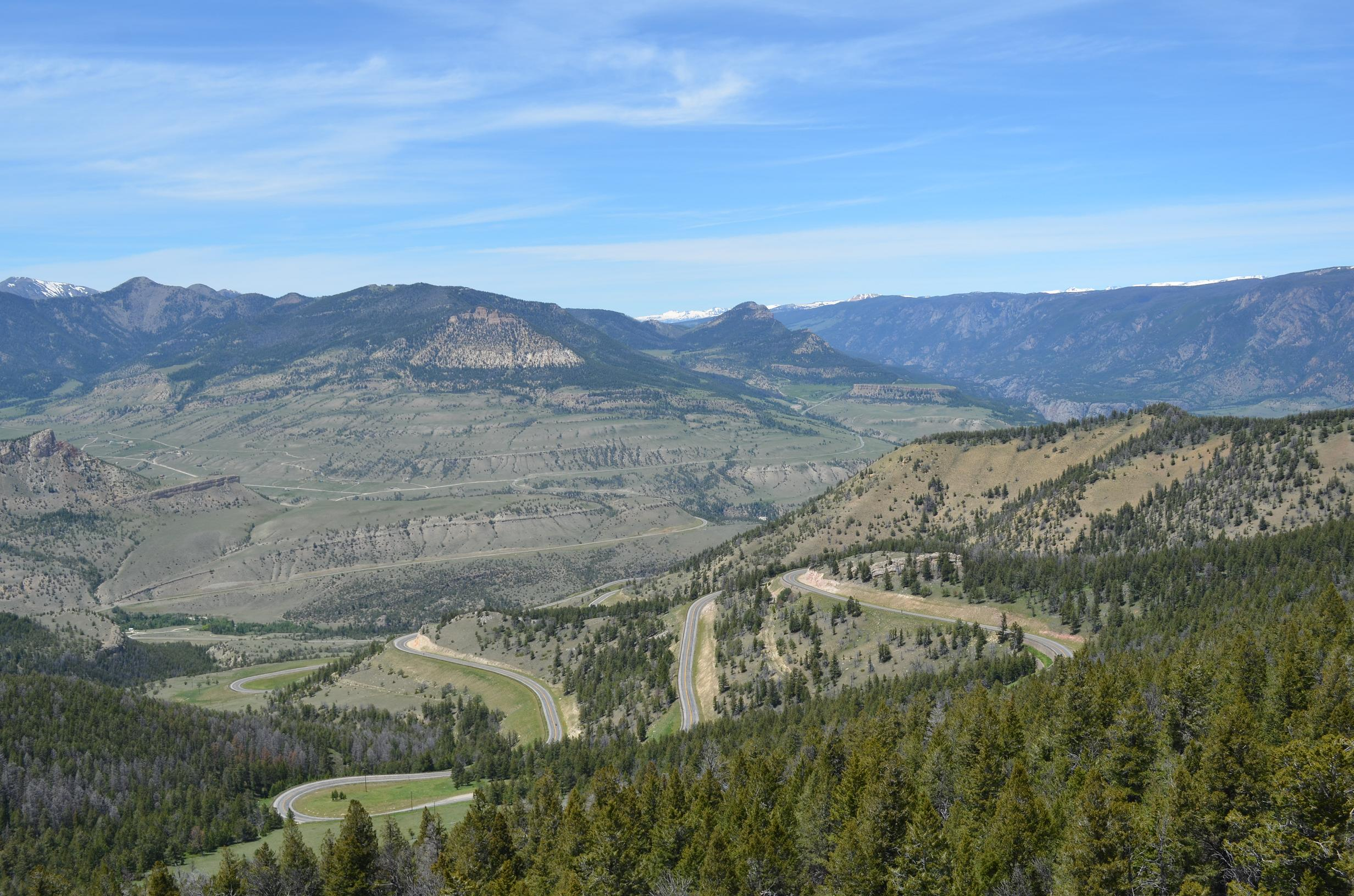 Clarks Fork RD from Dead Indian Pass