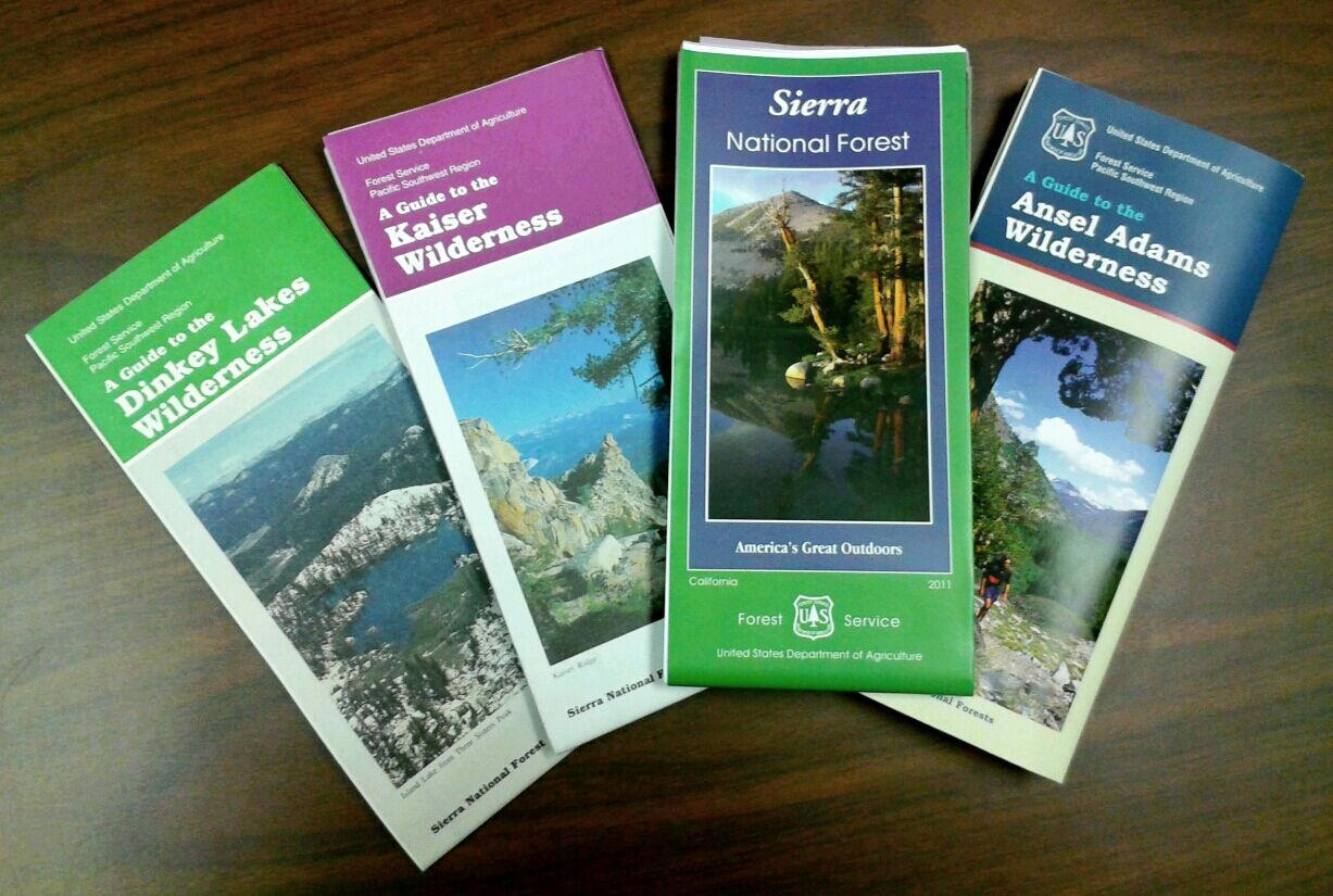 Sierra National Forest Maps Publications - Us forest service topo maps