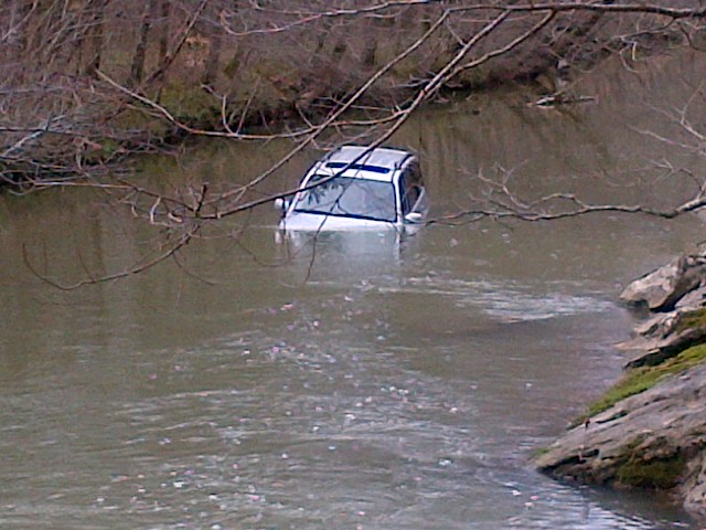 Cars can be easily swept away by flood waters.