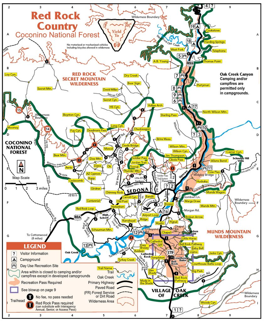 Dispersed Camping Colorado Map Coconino National Forest   Camping & Cabins:Dispersed Camping