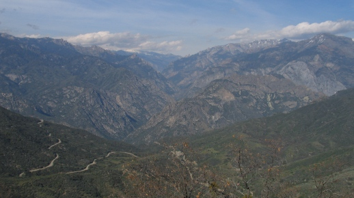 View up the Middle Fork of the Kings River and the Monarch Wilderness