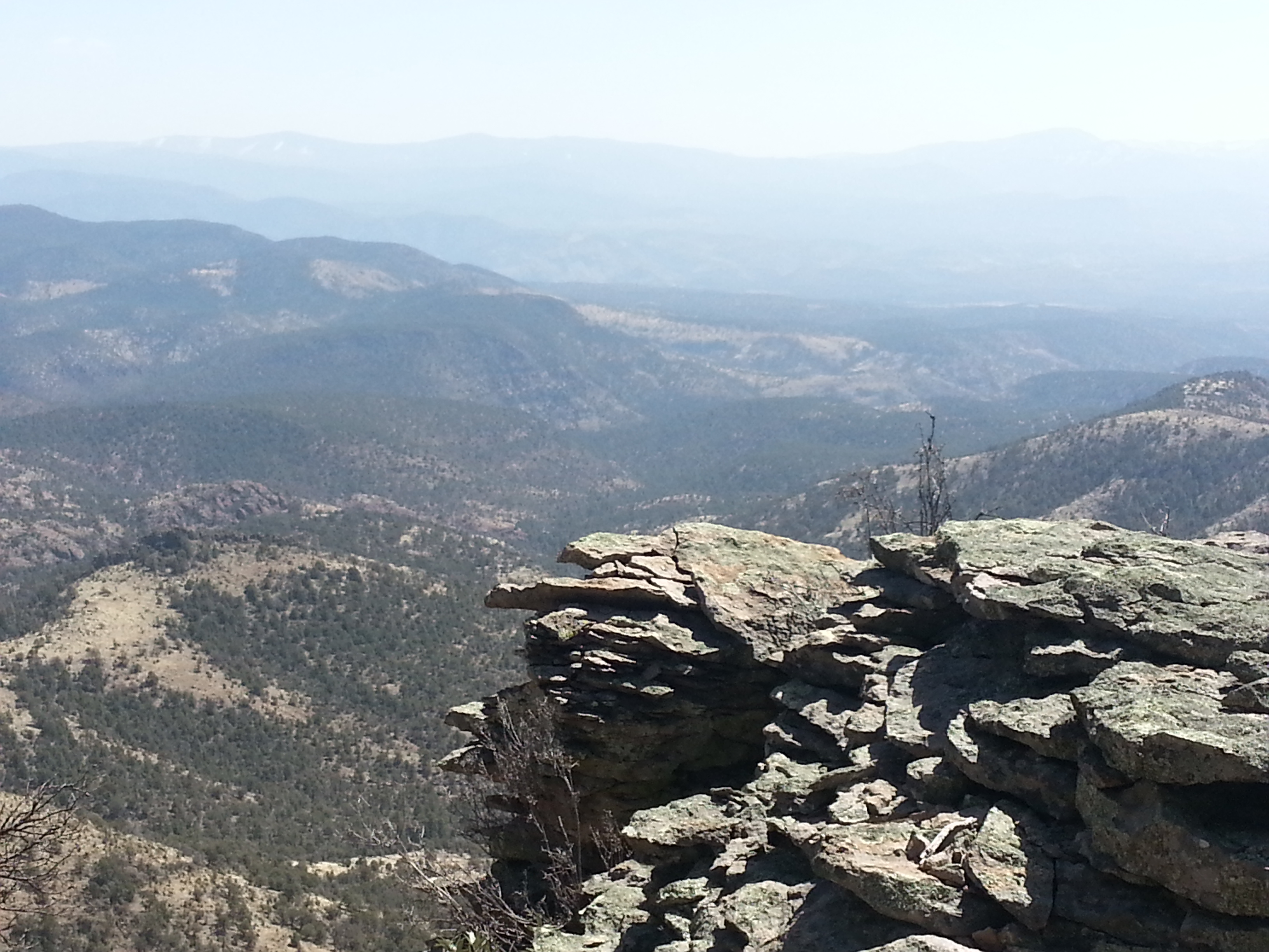 View From Tige Rim Trail into Blue Range Wilderness and Mogollon Mountains of the Gila Wilderness