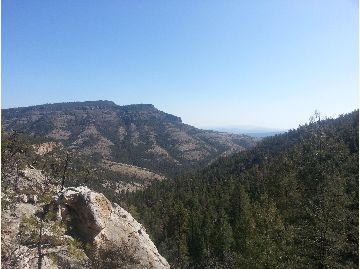 View to the Northeast From Tige Rim Trail