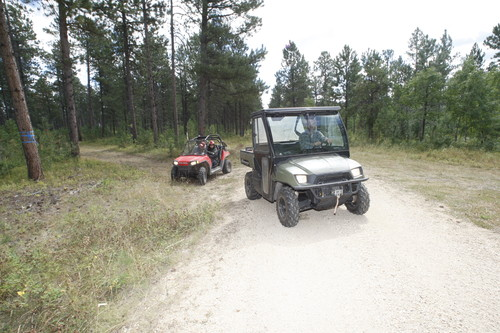 4 wheeler and UTV on Black Hills National Forest Motorized Trail