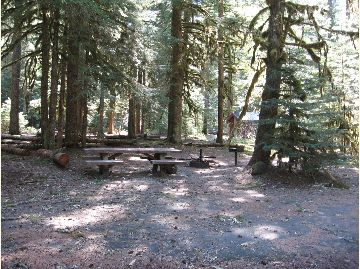 Pic of Lost Creek campsite