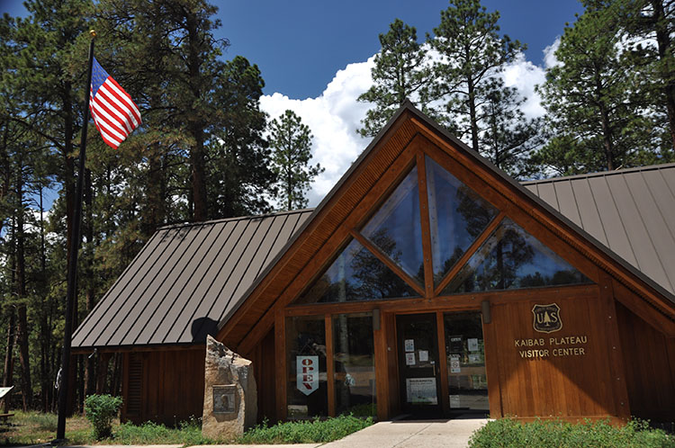 The Kaibab Plateau Visitor Center is located in Jacob Lake, Arizona.