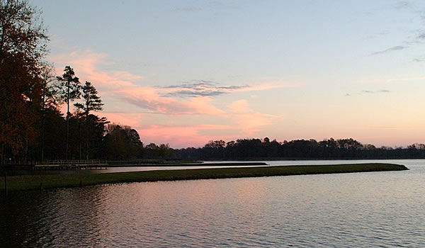 Davis Lake at Sunrise on the Tombigbee National Forest