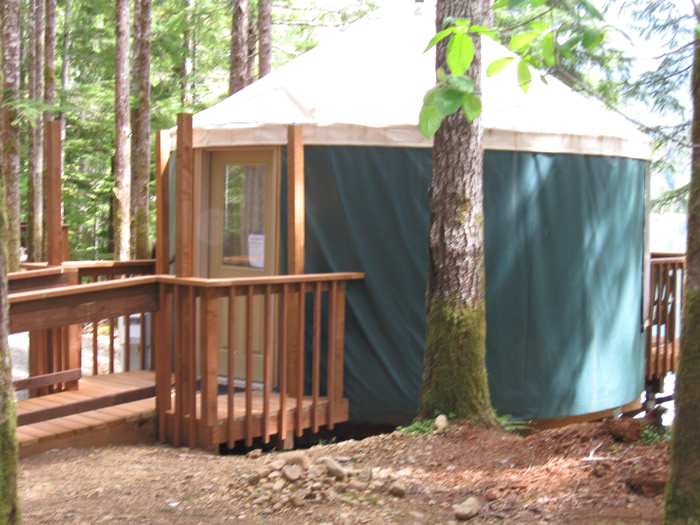 Yurt an Coho Campground.