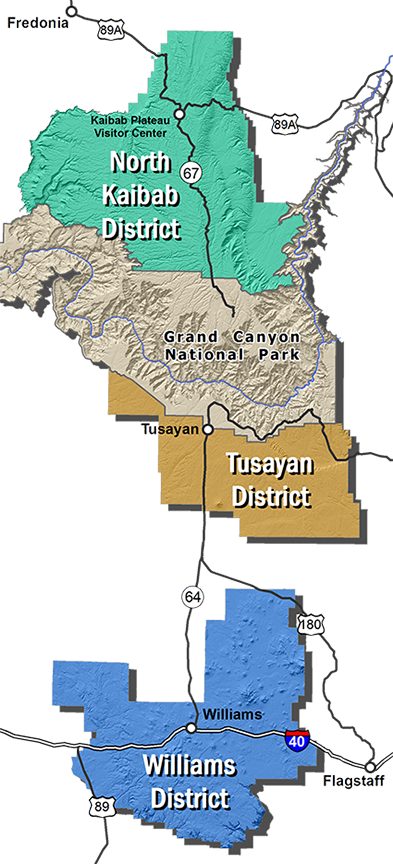 Kaibab NF District Map