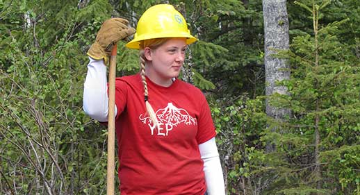 "Shawna Strain started with Anchorage's ""Youth Employment in Parks"" program and is now part of  a Fo"