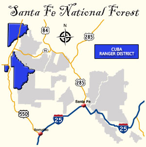 Map of Cuba Ranger District