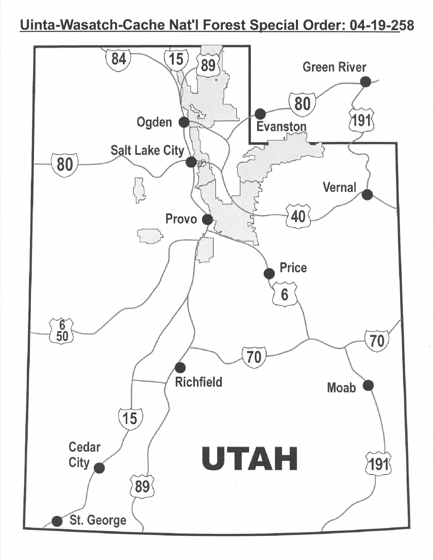 Uinta-Wasatch-Cache National Forest - Alerts & Notices