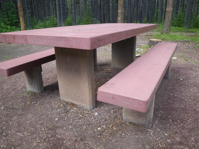 Campsite picnic table