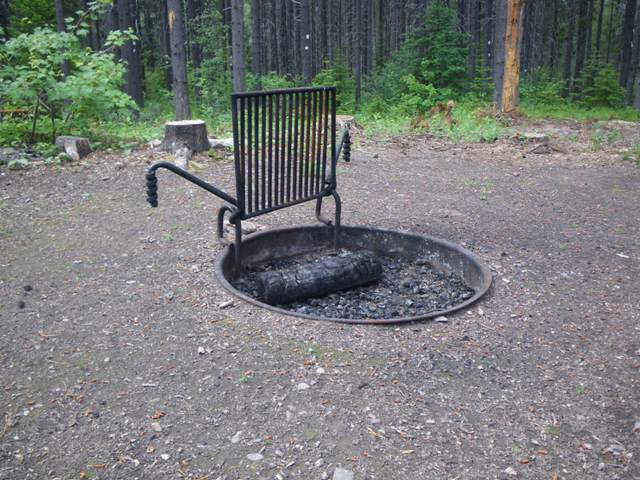 Campsite fire ring