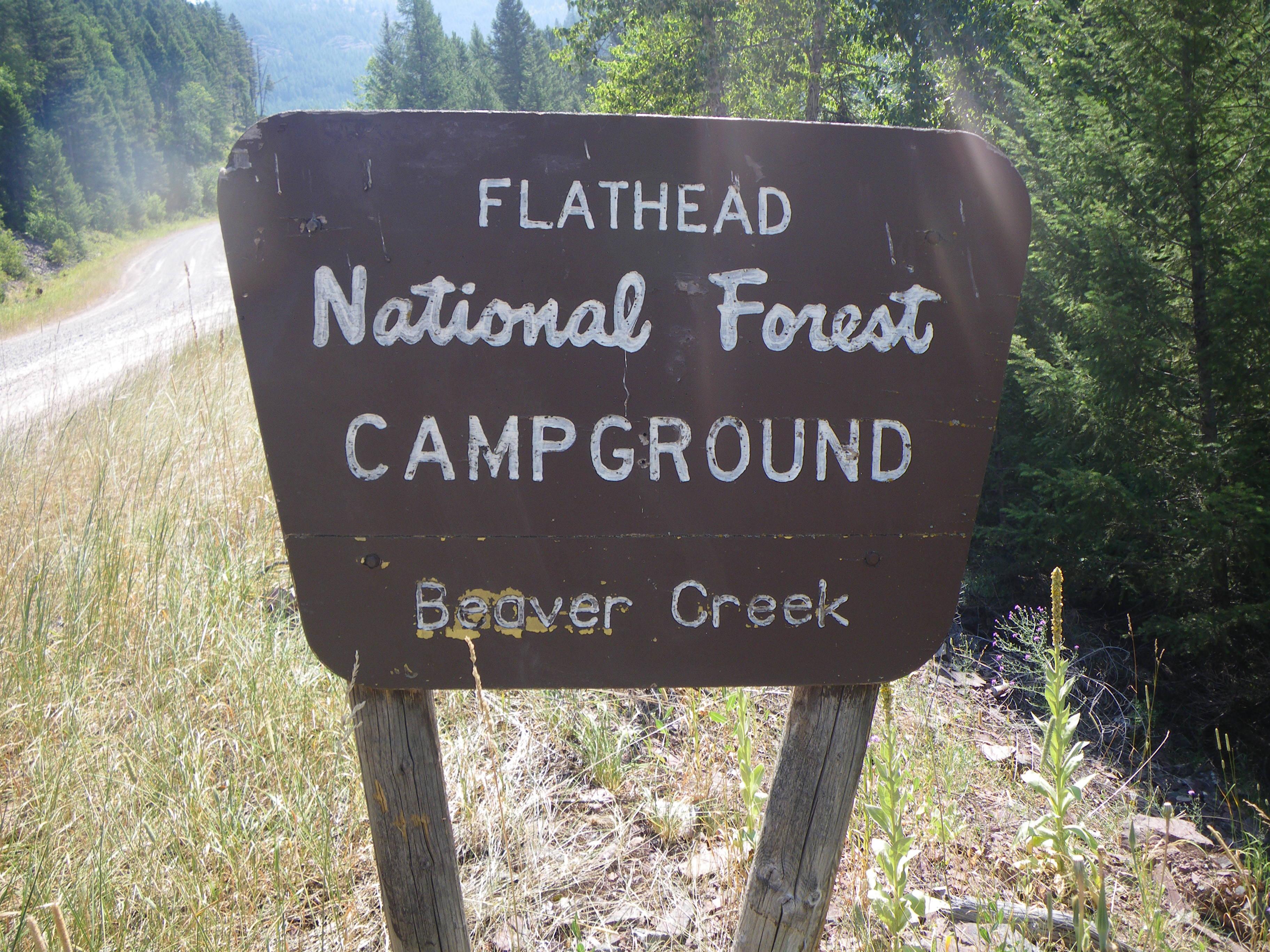 Beaver Creek campground sign