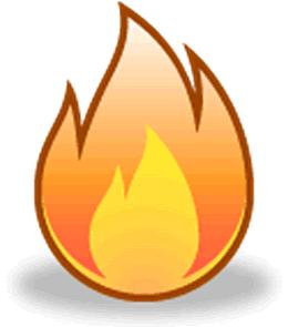 Cartoon image of flame